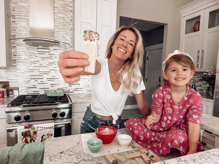 sugar cookie sticks recipe with kids christmas