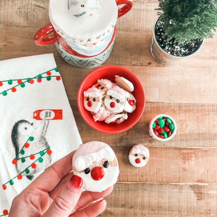 Santa dipped oreo cookies christmas easy no bake recipe