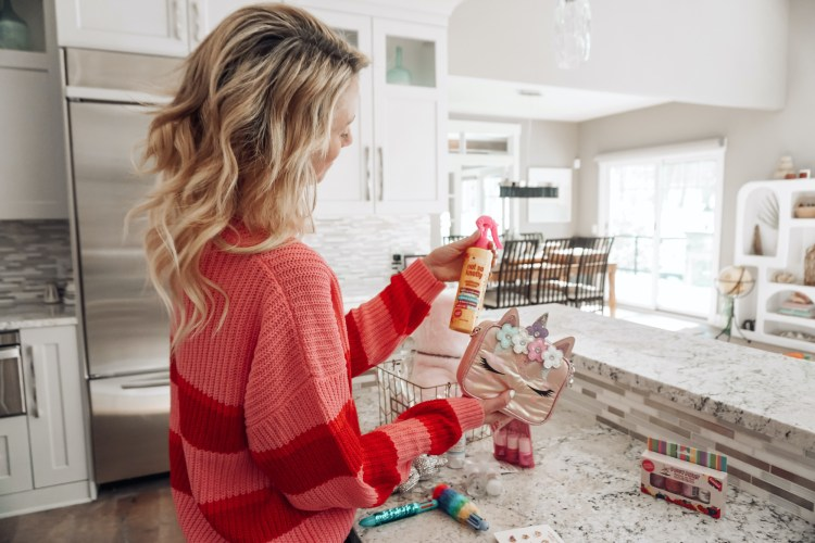 pink lily style festive sweater valentine's day mom blog