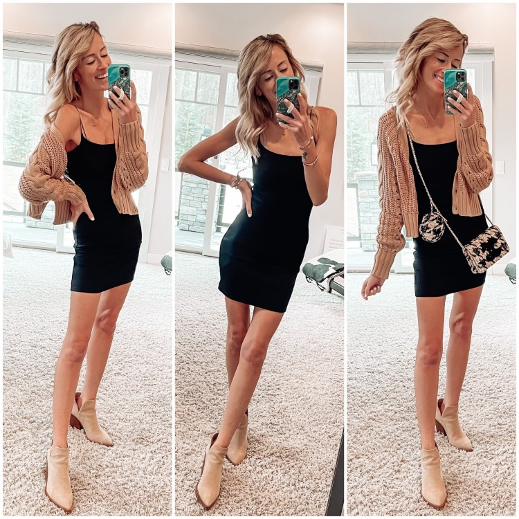 abercrombie ootd, chanel, little black dress, outfit ideas for spring