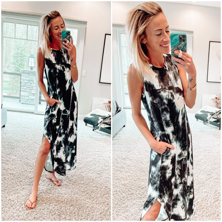 amazon spring outfits tie dye dress
