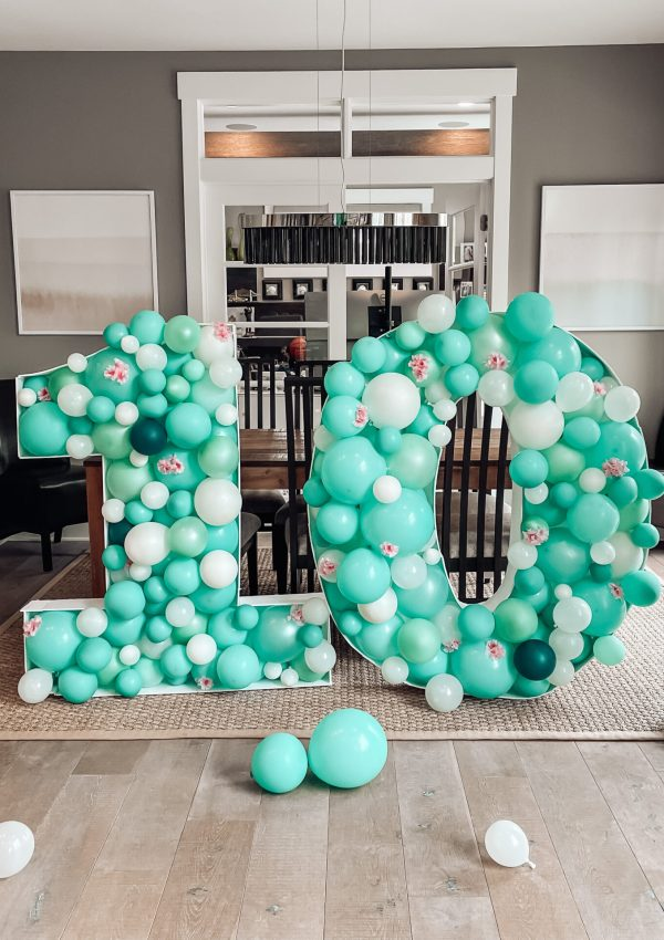 DIY: How to Make Balloon Numbers
