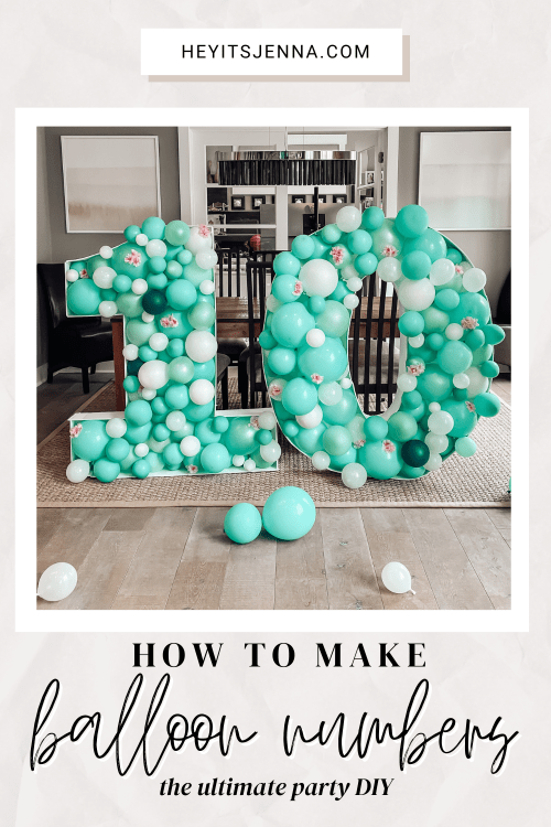 balloon arch garland mosaic, balloon numbers how to