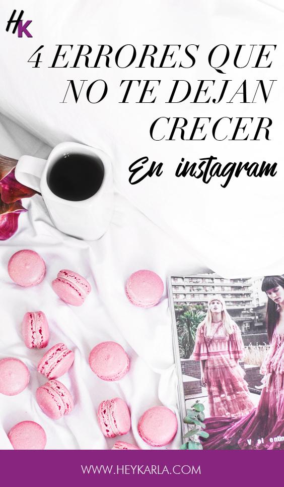 Errores que NO debes cometer en instagram