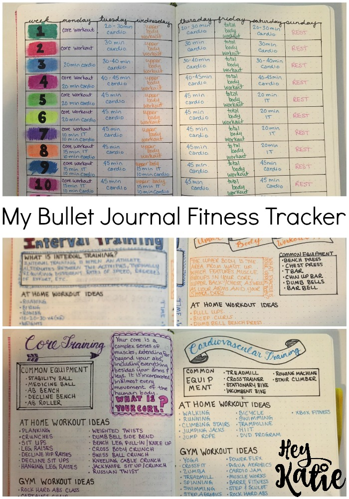 VEDA Day 21: My Bullet Journal Fitness Tracker - Hey Katie