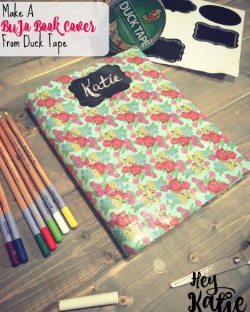 VEDA Day 23: Make a BuJo Book Cover from Duck Tape