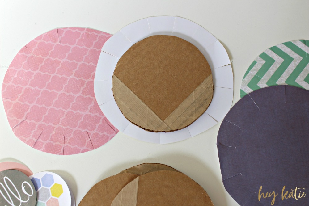 Cute and Kitschy DIY Cardboard Coasters