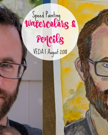 Watercolor and Pencil Portrait Speed Painting Video