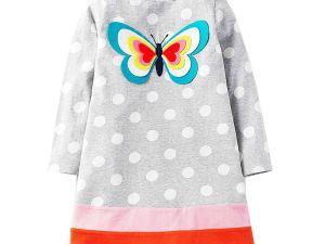 Robe d'hiver enfant - Robe papillon multicolore