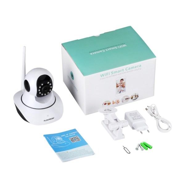 Caméra sans fil intelligente -Surveillance bébé avec accessoires dans son emballage