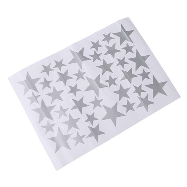 Stickers muraux étoiles argent - couleur gris - déco chambre