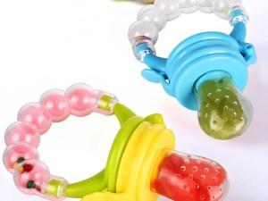 Tétines pour sevrage bébé avec anneau d'éveil bébé