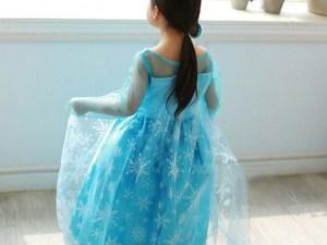 Vue de dos - Robe enfant Elsa de la Reine des Neiges