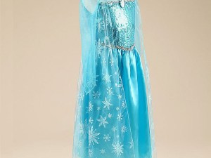Vue de profil - Jolie robe Elsa pour enfant