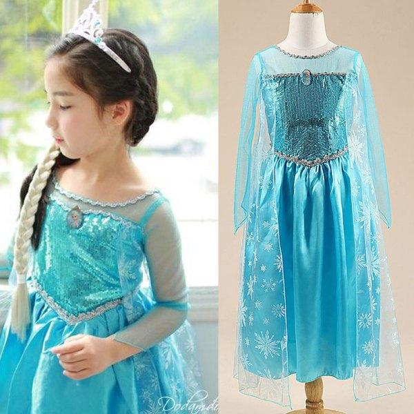Magnifique robe pas cher Elsa pour enfant