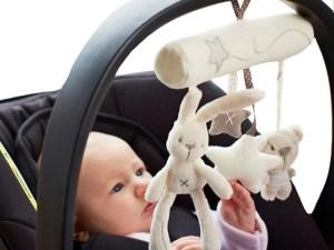 Peluches siège auto bébé