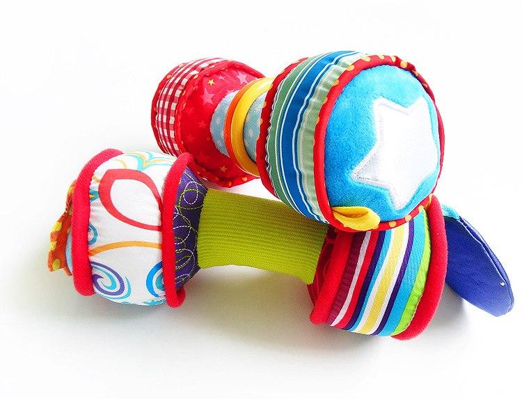 Haltères en peluche - Développement sensoriel de bébé