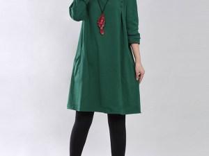 Robe tunique femme enceinte - couleur vert