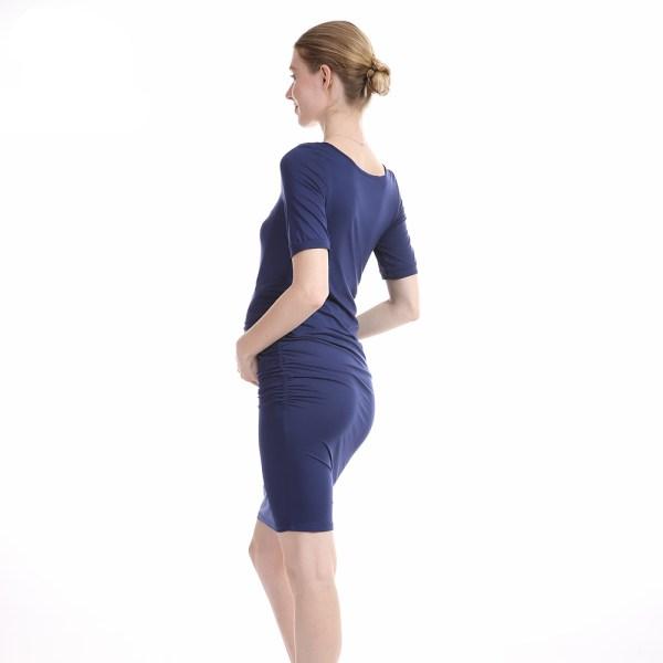 Robe slim femme enceinte couleur bleu indigo