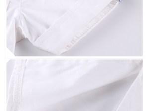 Ensemble garçon chemise blanche manches courtes
