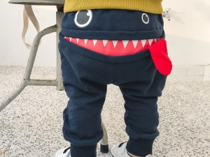 Pantalon survêtement bébé couleur bleu foncé