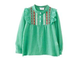Tunique fille couleur vert