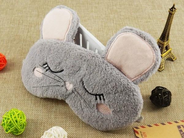 Joli masque de sommeil tête de souris pour la nuit