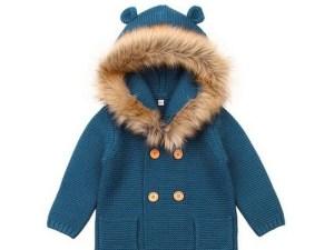 Chandail bébé bleu turquoise