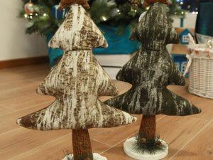 Arbre de Noël en tissu pour déco maison