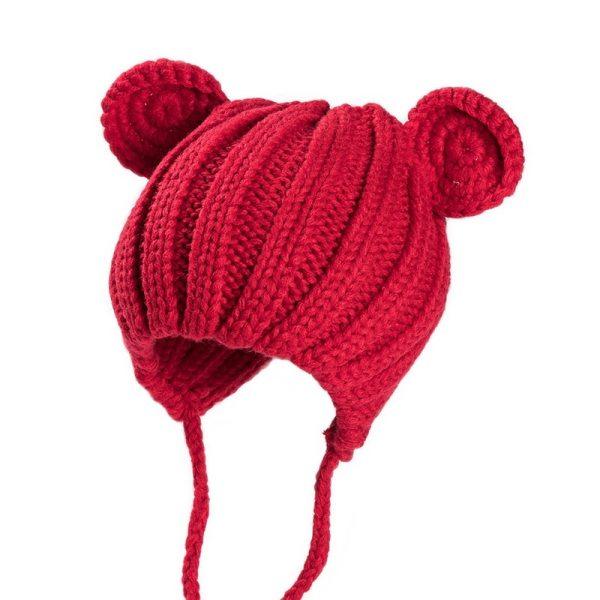 Bonnet bébé rouge