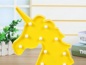 Veilleuse licorne jaune