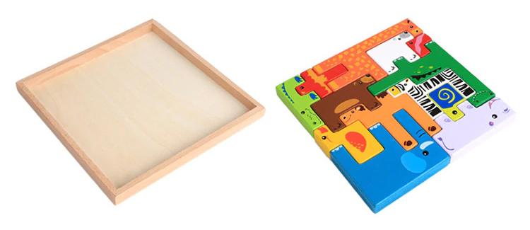 Blocs à empiler - Jouets en bois pour enfant
