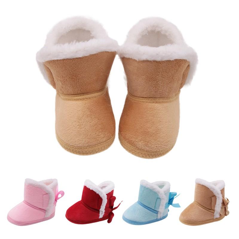 site réputé f5d57 f783d Boots en suédine fourrées pour bébé fille / garçon