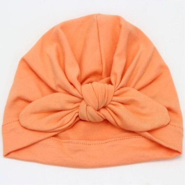 Bonnet turban bébé couleur orange