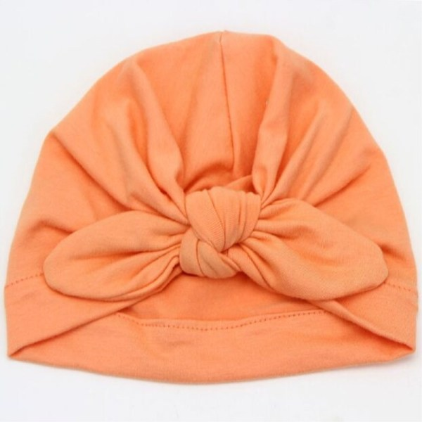 Bonnet turban bébé couleur orange