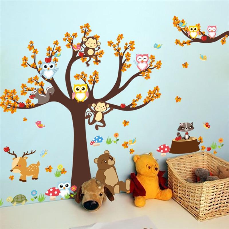 Sticker Mural Chambre Enfant Bebe Animaux De La Foret