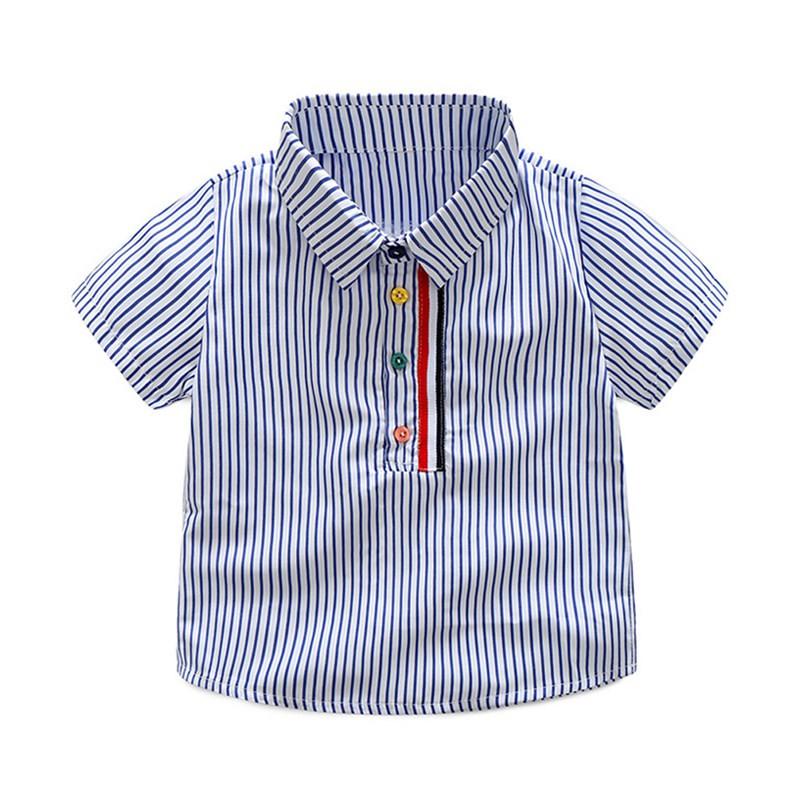 Chemise enfant à rayures bleues