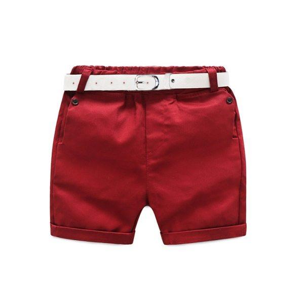 Bermuda rouge garçon
