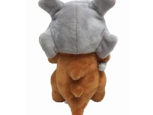 Peluche Osselait avec son crâne (vue de dos)