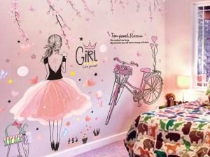 Autocollant mural chambre fille ado
