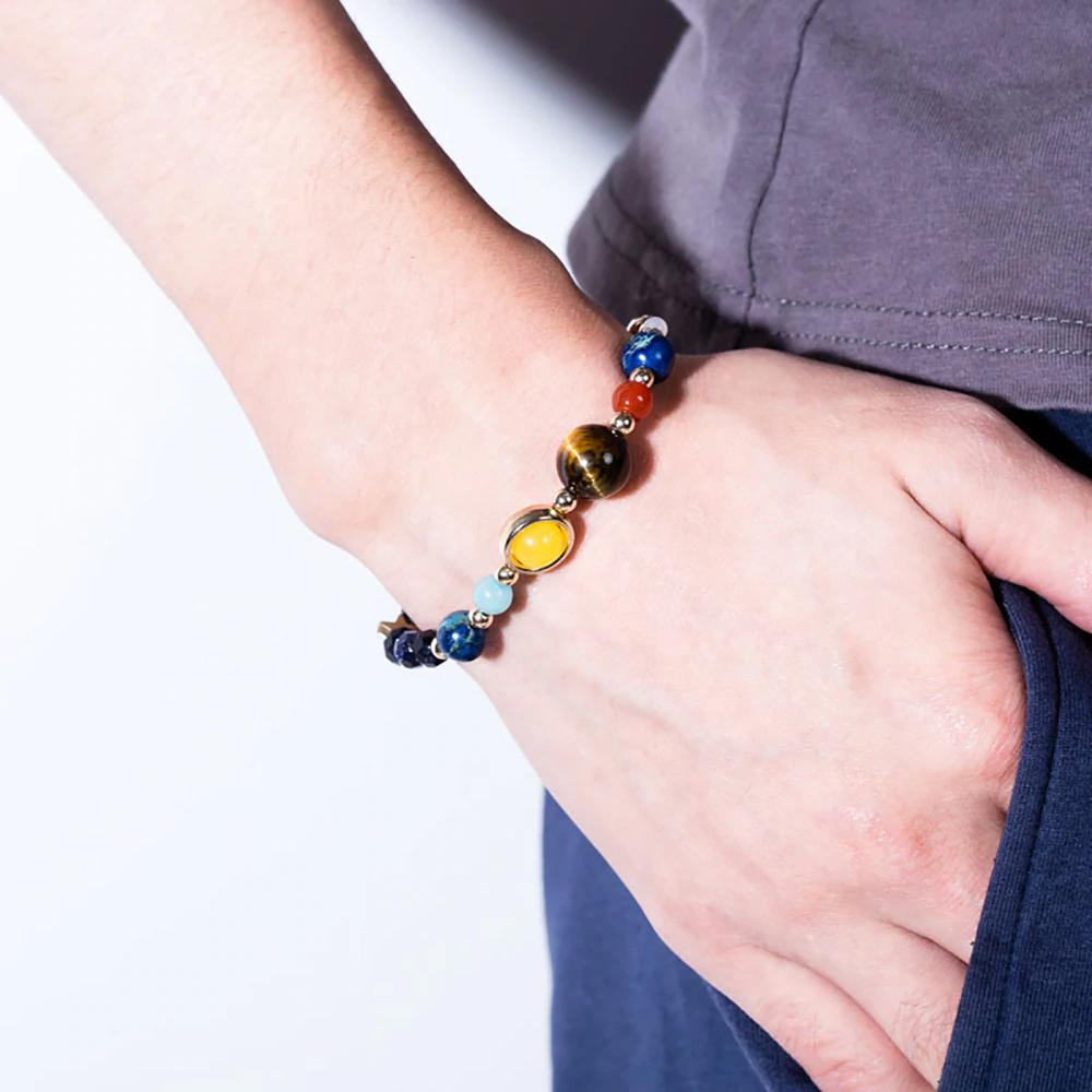 Bracelet fille / garçon planète système solaire