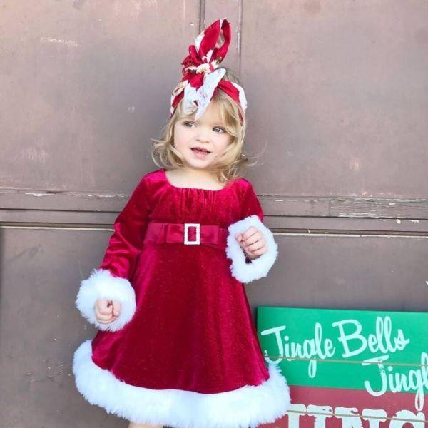 Robe élégante Noël pour enfant fille