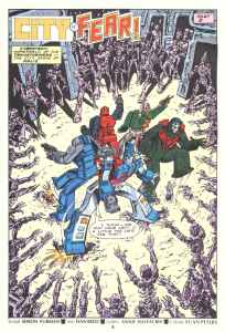 Transformers #165 City of Fear