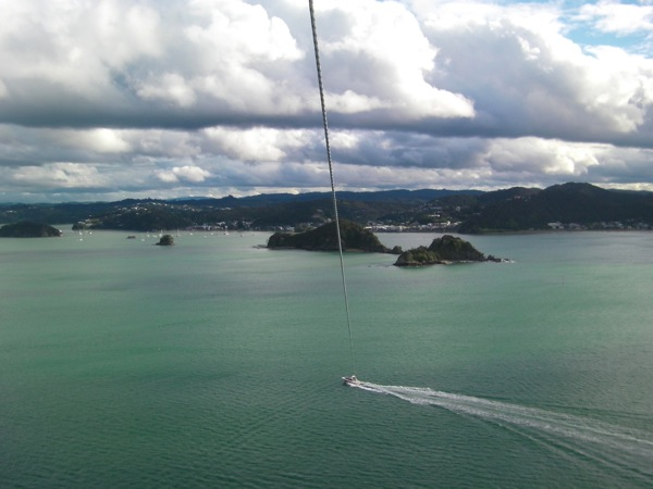 View from Parasailing Bay of Islands