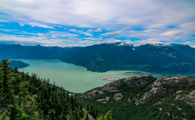 View from the Chief Overlook Platform - Sea-to-Sky Gondola, Squamish BC