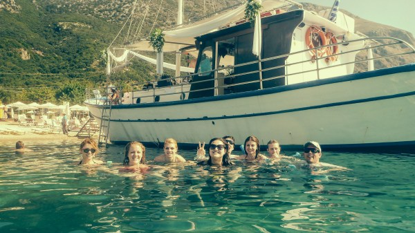 Optional: George's Boat- Corfu, Greece. Seriously one of the best day optionals you can take!