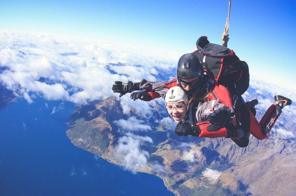 Sky Diving in Queenstown, New Zealand. Seriously some of the BEST views!