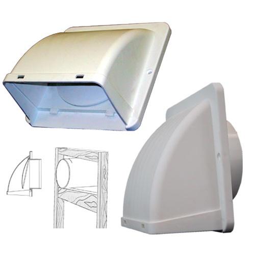 dryer exhaust vent hood for 4 ducting