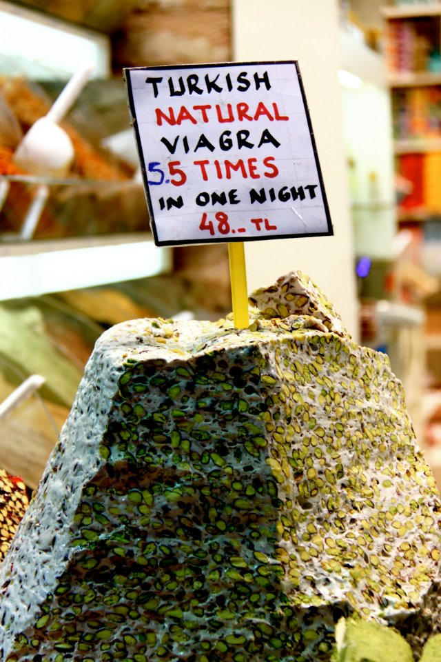 Turkish viagra for sale at the Grand Bazaar