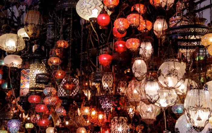 Turkish lamps at the Grand Bazaar